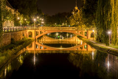 Stone bridges and their water reflection Royalty Free Stock Images