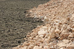 Stone and broken clay Royalty Free Stock Image