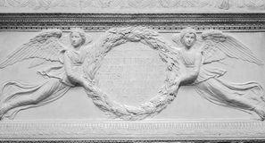 Stone bs-relief of two angels Stock Image