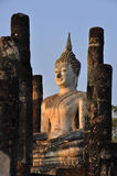 Stone buddha. Historic sites where the fine stone statues Royalty Free Stock Image