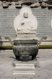 Stone Buddha. Statue at temple in jinan, China Royalty Free Stock Photography
