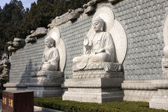 Stone Buddha. Statue at temple in jinan, China Stock Photography