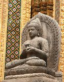 Stone Buddha. In the Grand Palace (Bangkok Stock Photography