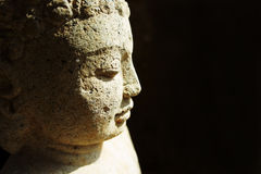 Stone buddha Royalty Free Stock Photo