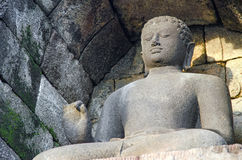 Stone Buddha. Borobudur. Indonesia. Royalty Free Stock Image