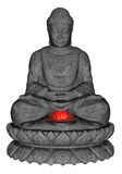 Stone Buddha - 3D render Stock Photos