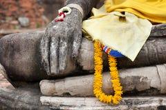 Stone buddha details Royalty Free Stock Photography