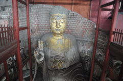 Stone Buddha gold-filled Royalty Free Stock Photography