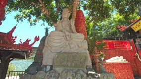 Stone Buddha Holy Statue in Phap-Vien-Thanh-Son in Vietnam stock footage