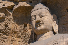 Stone Buddha sculpture in the cave Royalty Free Stock Photo