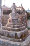 Stone Buddha Shrine in Kathmandu, Nepal. This is an ancient stone shrine to Buddha in Kathmandu, Nepal Royalty Free Stock Photo