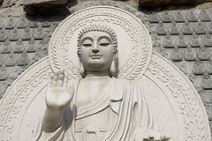 Stone Buddha Statue. At temple in jinan, China Stock Photography