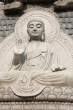 Stone Buddha Statue. At temple in jinan, China Royalty Free Stock Images