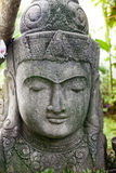 Stone Buddha statue face Stock Photography