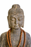 Stone Buddha statue, isolated on white Royalty Free Stock Images