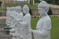 Stone Buddha Statues Stock Photo