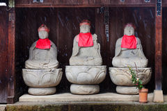 Stone Buddha statues in Takayama Royalty Free Stock Photo