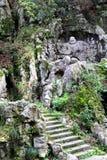Stone buddha Royalty Free Stock Images