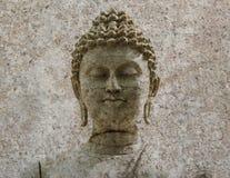 Stone Buddha warrior statue ayutthaya Royalty Free Stock Photos