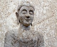 Stone Buddha warrior statue ayutthaya Stock Photography