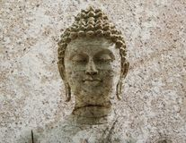 Stone Buddha warrior statue ayutthaya Royalty Free Stock Image