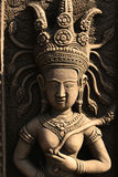 Stone Buddhist angel statue, Thailand. Royalty Free Stock Photography