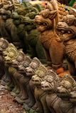 Stone Buddhist garden statues, Thailand. Stock Image