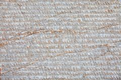 Stone with Buddhist mantras Royalty Free Stock Image