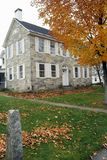 Stone building in autumn in Chester, VT Royalty Free Stock Photography