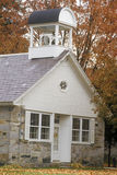 Stone building in autumn in Chester, VT Royalty Free Stock Photo