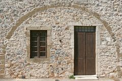 Stone Building Door and Window Royalty Free Stock Photo