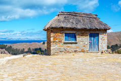 Stone Building on Isla del Sol Royalty Free Stock Photos