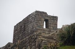 Stone Building at Machu Picchu Royalty Free Stock Photo