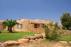 Stone building at Sani resort. In Halkidiki, Greece Royalty Free Stock Photos