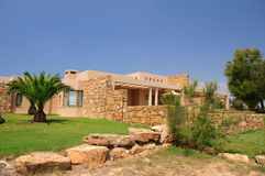 Stone building at Sani resort Royalty Free Stock Photos