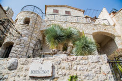 Stone Building on the Way La Bohemiennein Eze Royalty Free Stock Image