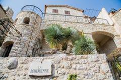 Stone Building on the Way La Bohemiennein Eze Royalty Free Stock Image