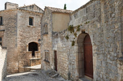 Stone buildings in Baux de Provence Royalty Free Stock Image