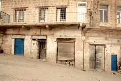 Stone buildings of Mardin old town in Turkey. Royalty Free Stock Photo