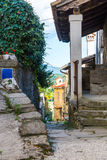 Stone buildings in the old town Royalty Free Stock Images