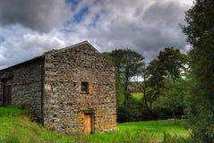 Stone built barn Stock Photo