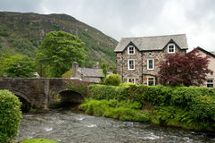 Stone built village in Wales Royalty Free Stock Image