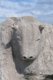 Stone Bull Royalty Free Stock Photo