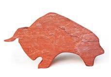 Stone Bull Figurine Stock Image