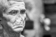 Stone bust of the National Museum of Roman Art Mérida Royalty Free Stock Photo