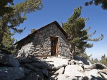 Stone Cabin. Granite Mountain Cabin on a 10,000 foot peak in a Southern California wilderness park Royalty Free Stock Photo