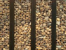 Stone in cage. Wallpaper wall texture art pattern Stock Images