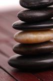 Stone Cairn. Cairn of polished stones Royalty Free Stock Photography