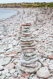 Stone Cairn Stock Photo
