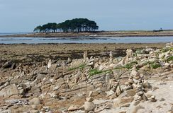 Locmariaquer coast in Morbihan Stock Images
